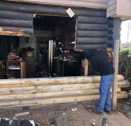 Major Log Rot Repair in Hastings OK