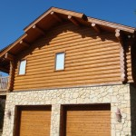 log home restoration AFTER Permachink stain