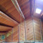 BEFORE: Aging Wood Ceiling