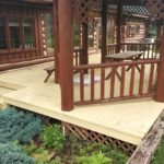 BEFORE: Log Home and Deck Refinishing