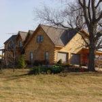 During Log Home Restoration Process